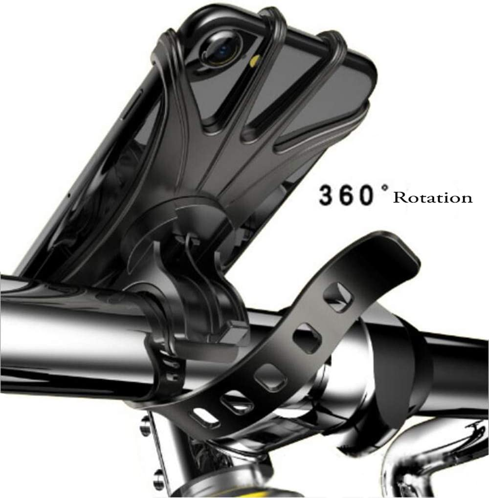 Marrrch Bike Phone Mount Universal Bike Holder Handlebars,360 /°Rotatable Adjustable Silicone Bicycle Phone Holder for Cycling GPS//Map////Music,Compatible with iPhone Xs MAX//X 4.5-6.5 Phones
