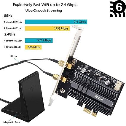 fenvi PCIe Wifi Card Next-Gen Wi-Fi 6 MU-MIMO OFDMA AX200 802 11ax PCI  Adapter wifi 6 for PC Network Wireless PCI-e Card 2x2 2 4/5GHz BT 5 0  2 4Gbps