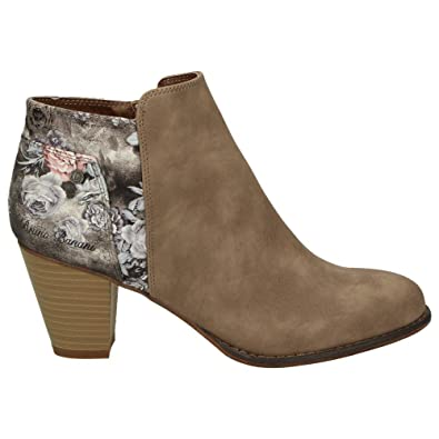 Bruno Banani 253-336 Damen Schuhe Freizeit Stiefelette Ankle Boots  Leder-Optik Blumenmuster, 7e131d4554