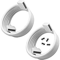 RGBZONE 2 Pack 2M 6.6ft Extension Cable Connect Female Plug to SMD 5050 RGBW LED Strip light with Free 4pcs 5pin…