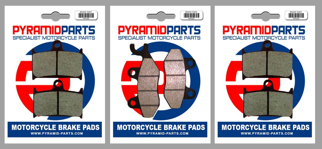 3 Pairs Triumph 1200 Trophy 96-03 Front /& Rear Brake Pads Full Set