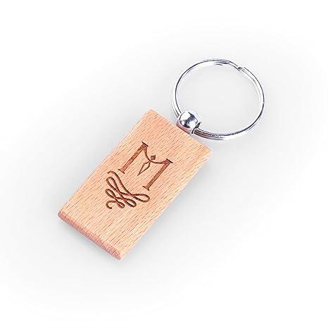 La giftsmith personalizado llavero Rectangular de madera con ...