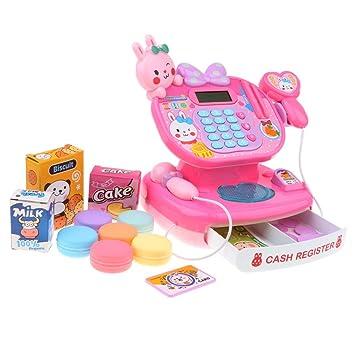 33df22ecf12f80 Baosity 2色選ぶ シミュレーション お店屋さん キャッシュレジスター 子供 ふり遊びおもちゃ 贈り物 -