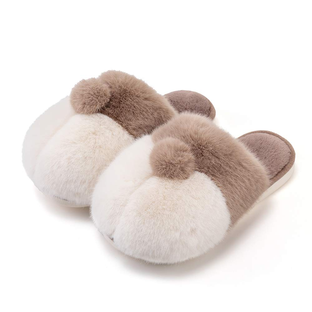 posee Corgi Slippers, Cute Fuzzy Animal Slippers Corgi Butt, Furry Slipper,Fuzzy Slippers,Winter House Shoes for Women and Men,Fluffy Plush Indoor Slippers House Slippers Warm Fleece Lined Gray