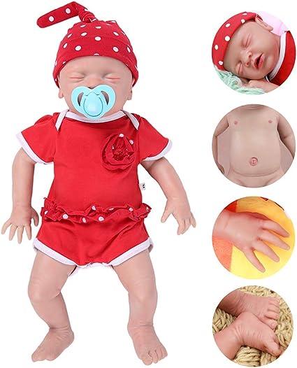 Dxfk Am 100 Full Silicone Reborn Dolls Soft Realistic Handmade Babies Toys 18inch Pvc Free Silicone Newborn Baby Doll Boy 18inch Sports Outdoors