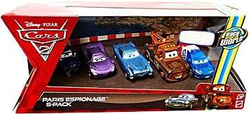 Mattel V6203 Pack 5 Coches Cars - Escena en Paris: Amazon.es ...