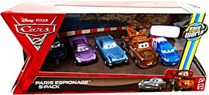 Mattel V6203 Pack 5 Coches Cars - Escena en Paris: Amazon.es ...