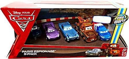 Mattel V6203 Pack 5 Coches Cars - Escena en Paris: Amazon.es: Juguetes y juegos