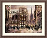 Framed Art Print 'Wall Street 1890' by Robert Lebron