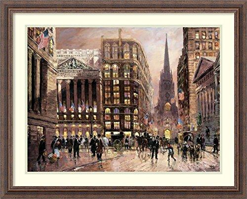 Framed Art Print 'Wall Street 1890' by Robert Lebron by Amanti Art