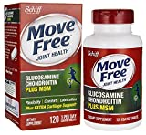 Move Free Glucosamine Chondroitin MSM and Hyaluronic Acid Joint Supplement, 120 Count (Pack of 3 (120 Count))
