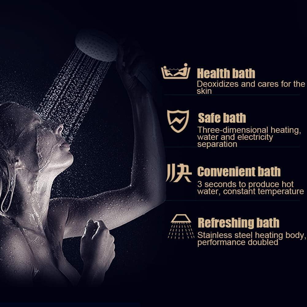 ba/ñera para ba/ño protecci/ón contra sobrecalentamiento calentador de agua el/éctrico instant/áneo de 5.5KW con tecnolog/ía de temperatura automodulable Calentador de agua el/éctrico sin tanque