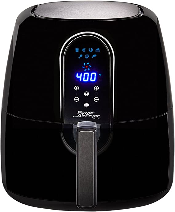 PowerXL 5.5 Qt Family Sized Power Air Fryer Elite 7- In -1 Electric Hot Air Fryer