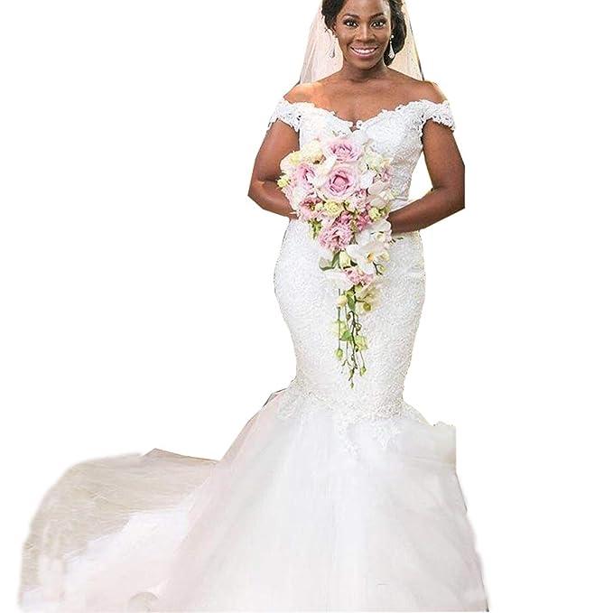 Ainisha Women\'s Plus Size Mermaid Wedding Dress Bridal Gowns ...