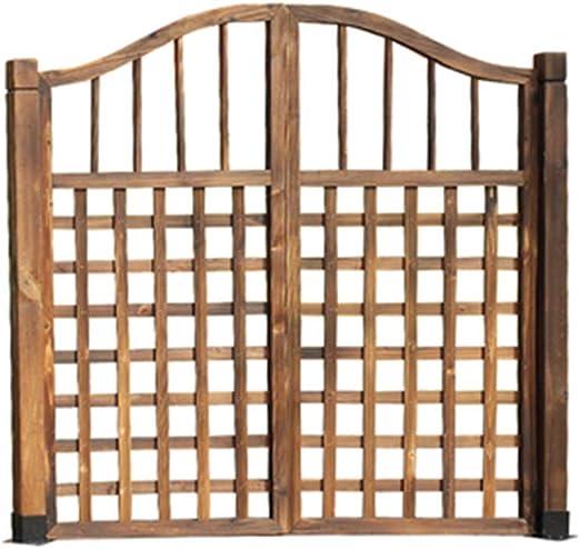 NBRTT Puerta de cercado de piquete de Panel de Madera, Valla de jardín, decoración de Plantas, empalizadas Naturales y respetuosas con el Medio Ambiente para Patio de siembra de Flores, jardín: Amazon.es: