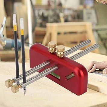 Rockyin Boiserie Dessiner une ligne r/églable trusquin en alliage daluminium en bois Scribe mortaise outil