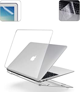 A2179 A1932 MacBook Air 13 Inch Case Keyboard Skin Cover Screen Protector for 2020 2019 2018 Release MacBook with Retina Display Touch ID MA20F - Crystal Clear