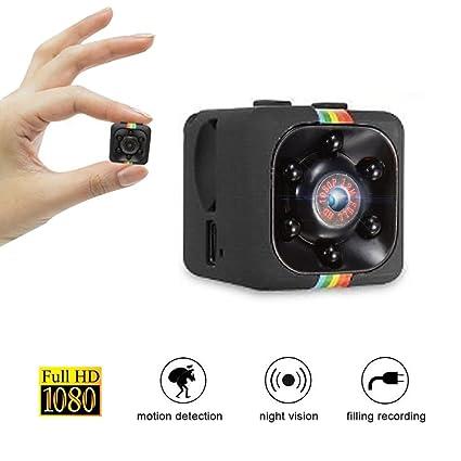 Mini Cámara Espía Portátil Pequeña HD Camara de Video con Detección de Movimiento y Vision Nocturna