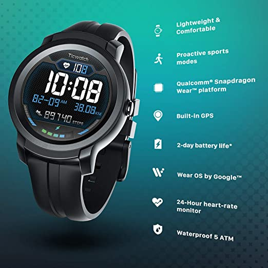 Mobvoi TicWatch S2/E2, Wear OS by Google Classic Smartwatch ...