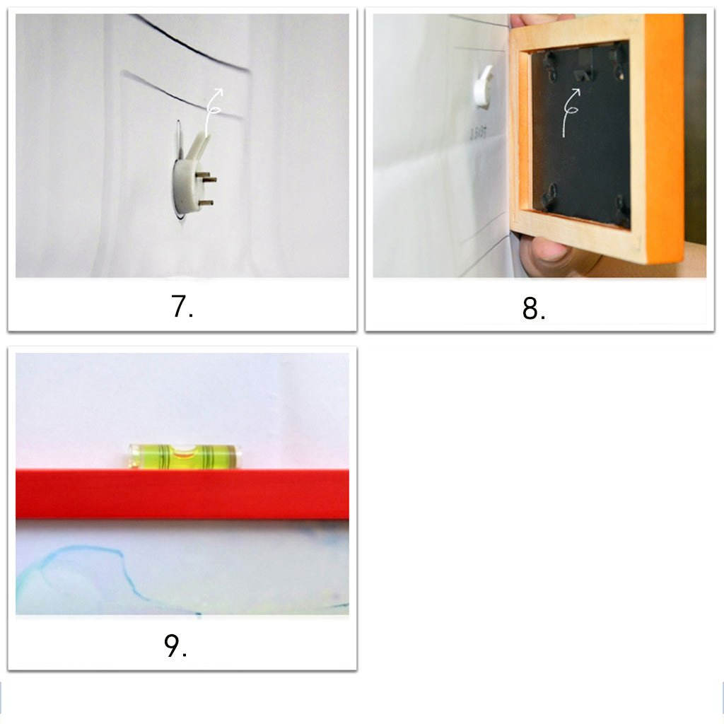 HDOH Fotorahmen-Wand-Galerie-Kit enthält: Hängende Wand-Schablone ...