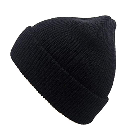 Bokun Winter Women Men Unisex Knitted Skuilles Beanies Caps Hats Solid Beanies Hat