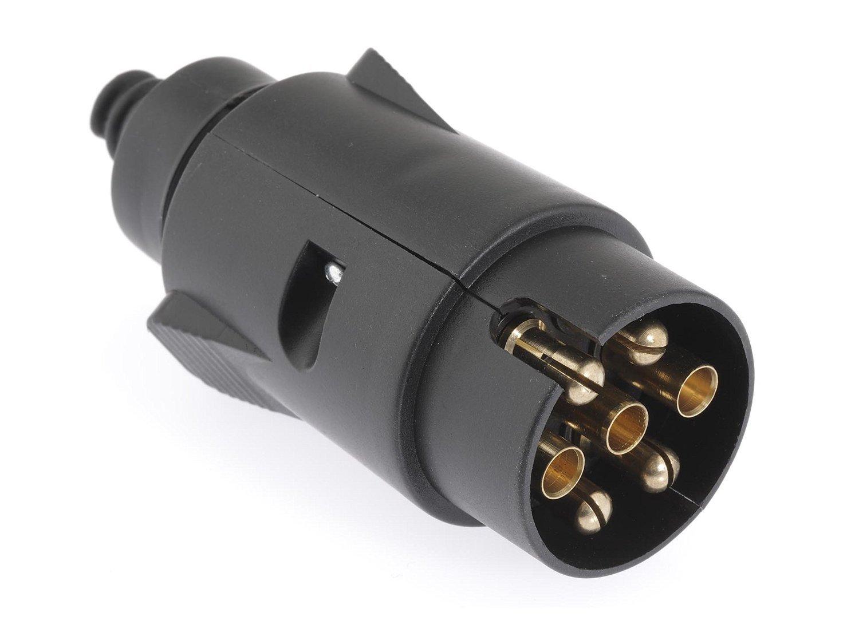 Conector de remolque de 7 polos, 12 V