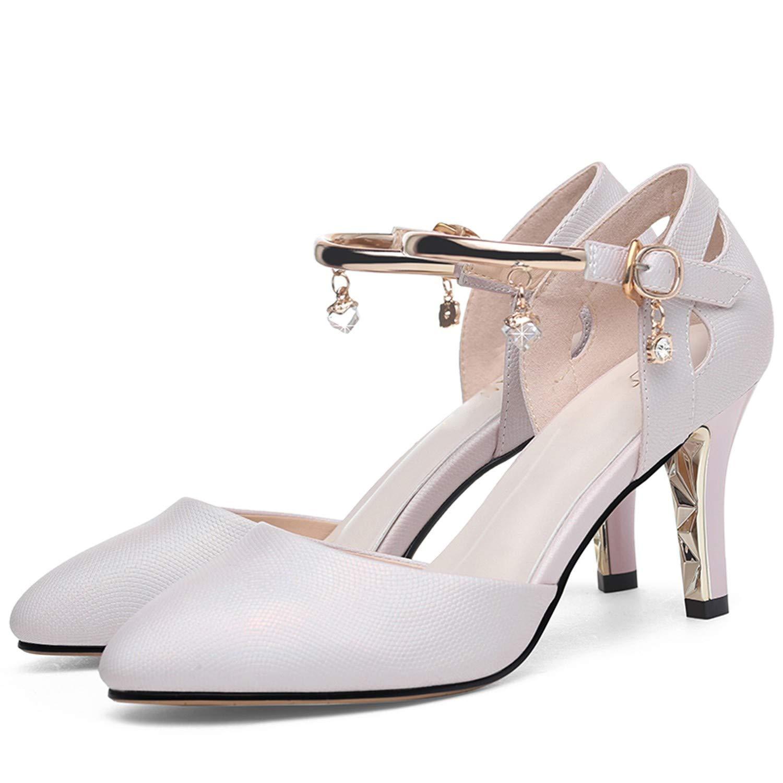 LBTSQ-Spikes dünnen Heels Flache Schuhe 8cm Diamond Sandalen High Heels Wilde Frauen Schuhe.