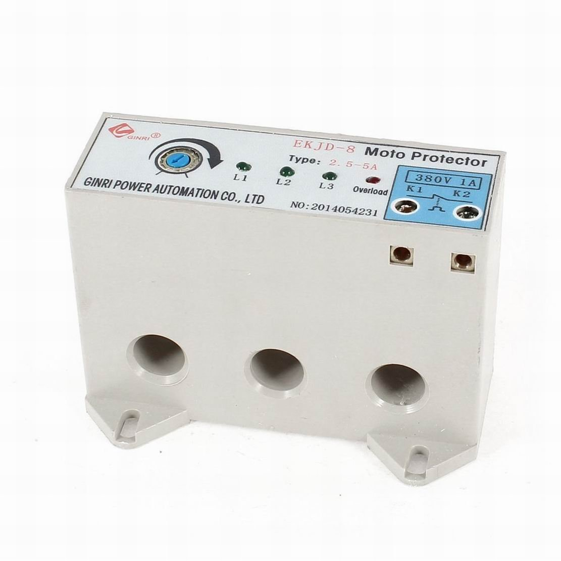 Uptell EKJD-8 3 Phase 2.5-5 Ampere Adjustable Current Motor Circuit Protector