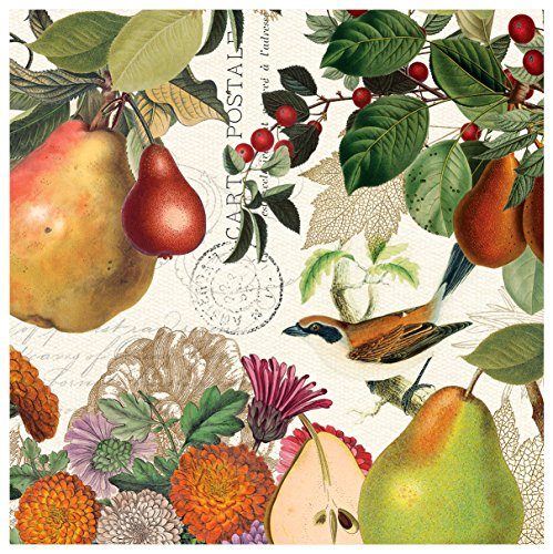 Michel Design Works 20-Count 3-Ply Paper Luncheon Napkins, Golden Pear (Fall Pear)