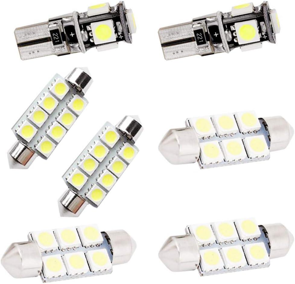 Per A6L LED Super Luminosi Bianco Lampadine per Luci Interne Auto Per Porte Interne di Auto Luci di Lettura Luci Plafoniera Luce Targa LED Canbus Senza Errori 12 Pezzi