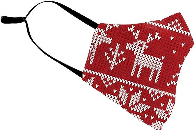Eboutik Weihnachtliche Hässliche Pullover Designs Stoff Gesichtsmasken Mit Filterschlitz Wiederverwendbare Waschbare Und Atmungsaktive Gesichtsbedeckungen Rentier Bäume Auto