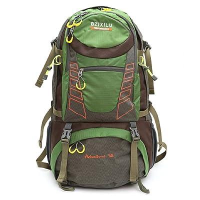 LJ&L Outdoor men and women general backpack, 50L large capacity mountaineering travel bag, anti-tear wear adjustable belt belt backpack