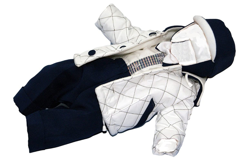 Taufanzug Gregor mit Jacke in weiß-blau