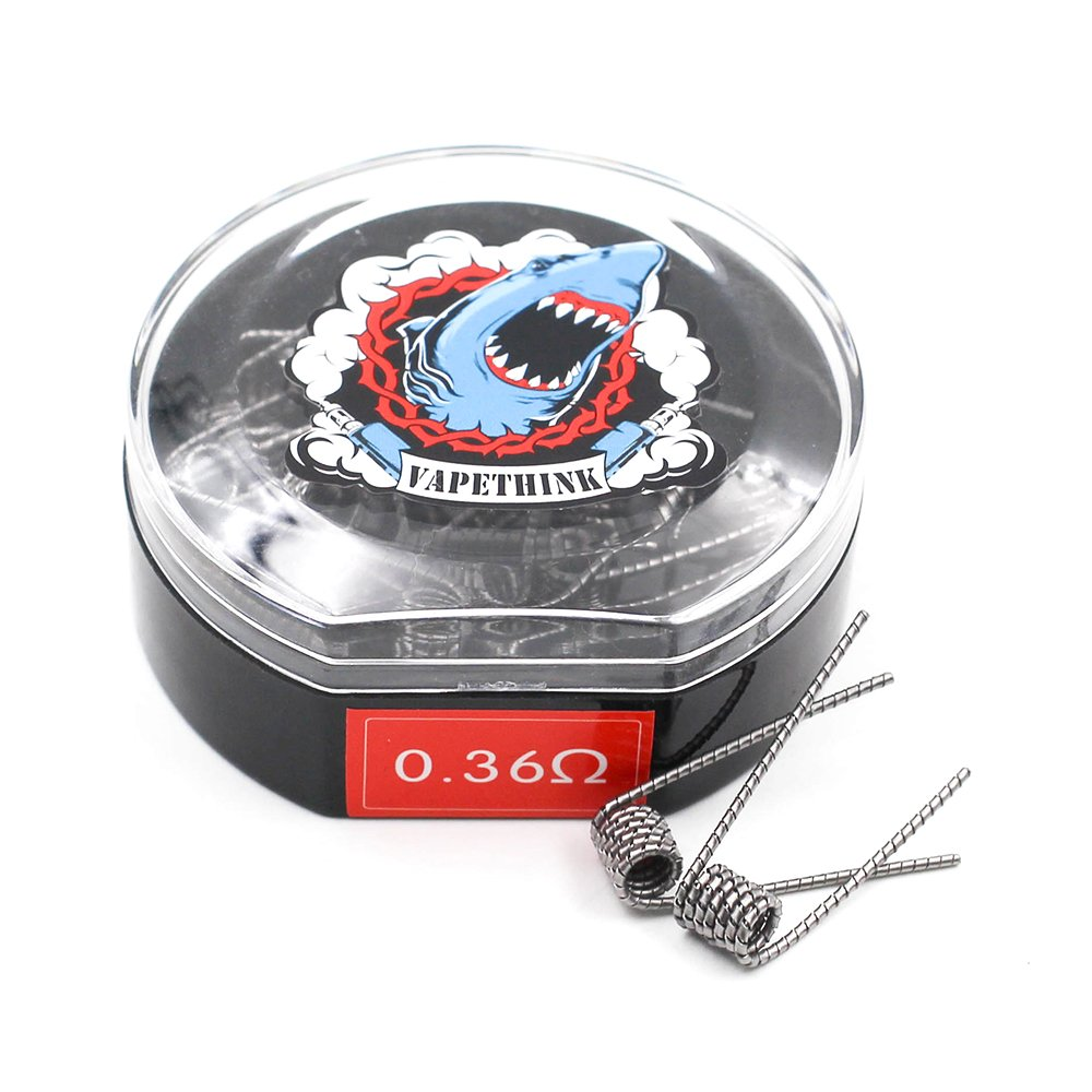 28GAx2 + 32GA by Vapethink,0.45ohm 20 Pieces Made Coil,Fused Clapton Coil Heating Wire AWG