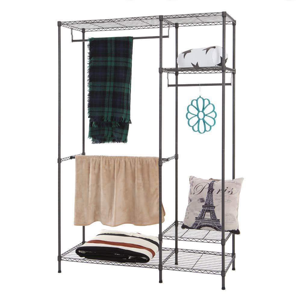 AppleLand Dropshipping Multi-Functional Garment Rack Closet Organizer Clothes Hanger Wardrobe Home Shelf Without Cover 47.25'' 17.72'' 70.87'' US - Quarkscm