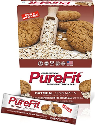 Cinnamon Granola Crunch (PureFit Gluten-Free Nutrition Bars with 18 grams Protein: Oatmeal Cinnamon, 2 oz Bars, Pack of 15 (Formerly Granola Crunch))