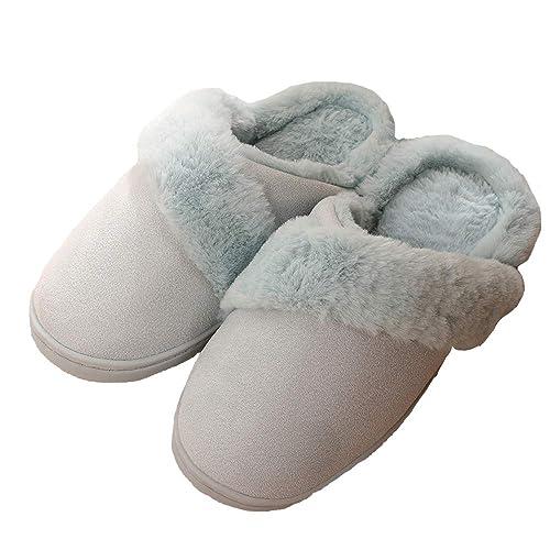 Zapatillas de Estar por casa Mujer Invierno Peluche Cerradas Andar Calienta Pantuflas Hombre Suave Algodón Slippers Originales Termicas Zapatos: Amazon.es: ...