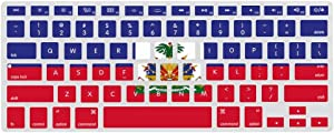 Haitian Flag Ultra Thin Silicone Laptop Keyboard Cover Skin Protector Keypad Dust-Proof Membrane for A1466 Apple MacBook (13.3Inch)