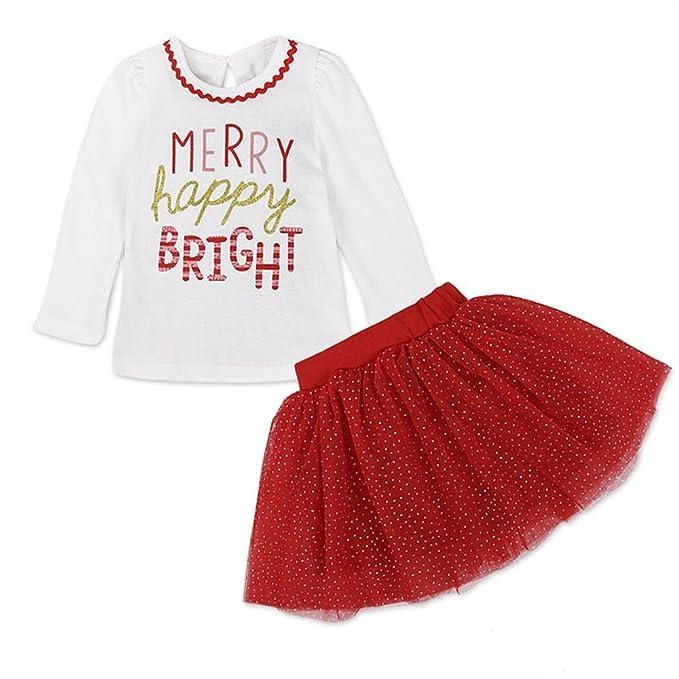 Amazon.com: Navidad Falda Set, Hongxin bebé Kids Baby Girl T ...