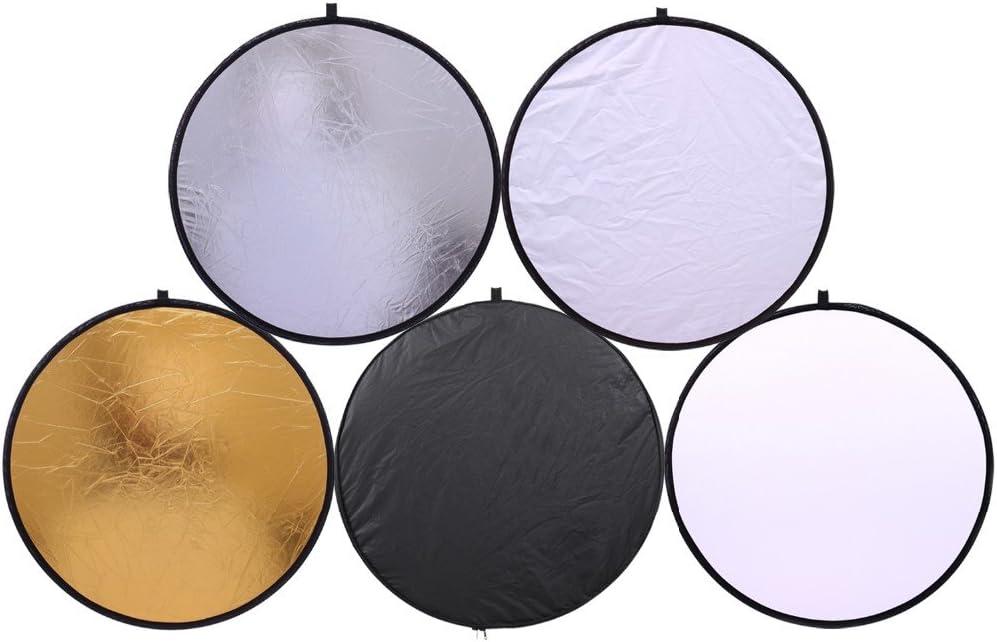 دوكولر 32 بوصة 80 سم محمولة 5 في 1 عاكسات إضاءة متعددة أقراص قابلة للطي عاكسة للضوء دائرية متعددة أقراص متعددة لمواقف التصوير الفوتوغرافي