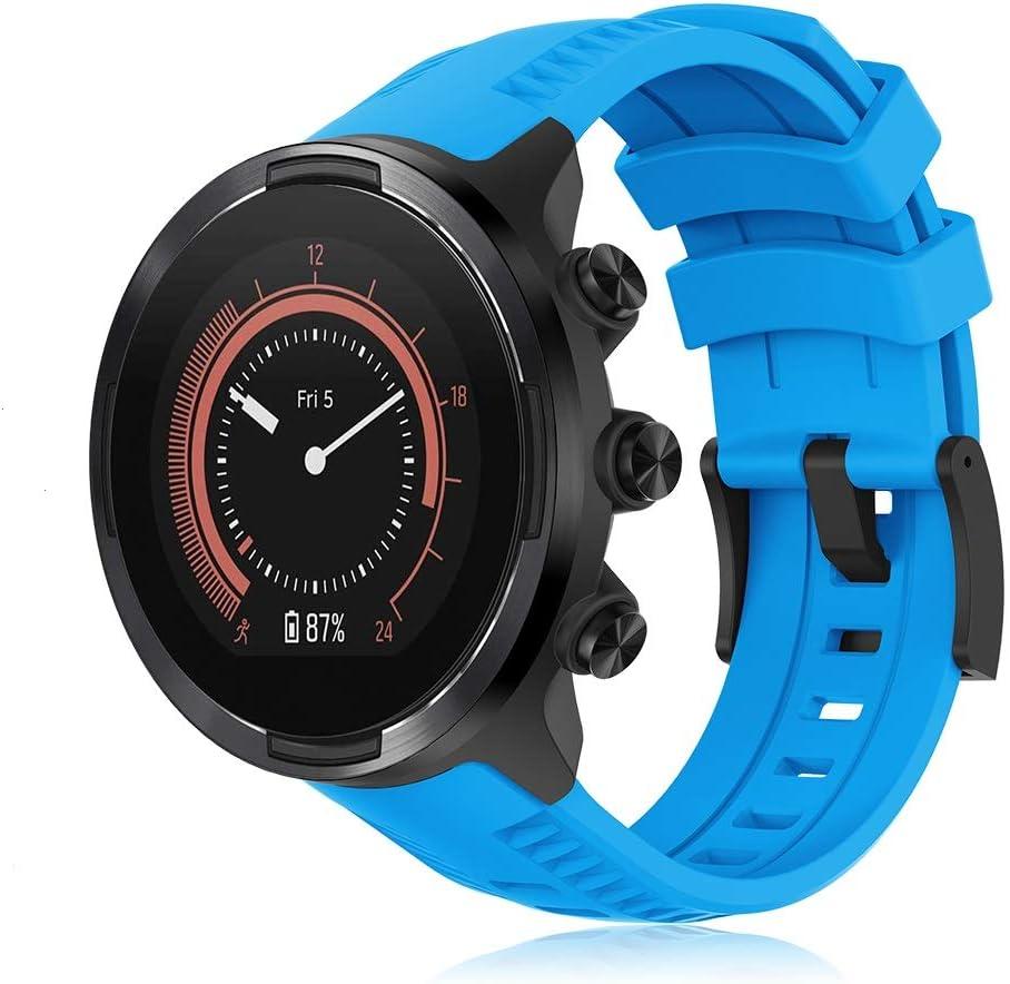 Yaspark Kompatibel Für Suunto 9 Armband 24mm Silikon Ersatz Armbänder Verstellbares Zubehör Uhrenarmband Für Suunto 9 Baro Suunto 7 Baro Suunto Spartan Sport Wrist Hr Suunto D5 Smart Watch Sport Freizeit