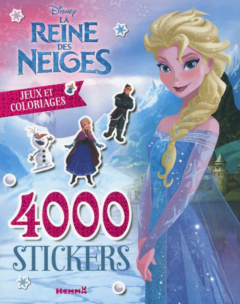 Disney La Reine Des Neiges 4000 Stickers Jeux Et Coloriages
