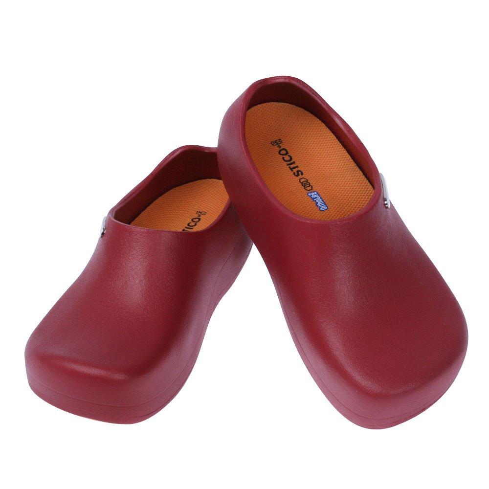 STICO Chef Kitchen Slip Resistant Safety Men Shoes, Wine US 7(250mm)