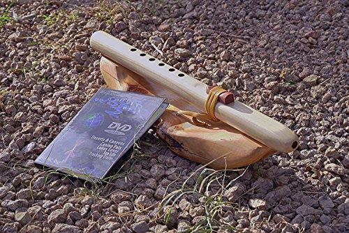 Windpony key of A 6-hole Poplar Native American Style unfinished Flute with DVD