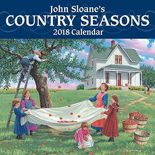 (John Sloane's Country Seasons 2018 Mini Wall Calendar)