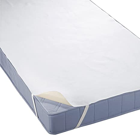 Funda protectora de rizo impermeable para colchón, con bandas elásticas en las esquinas (90