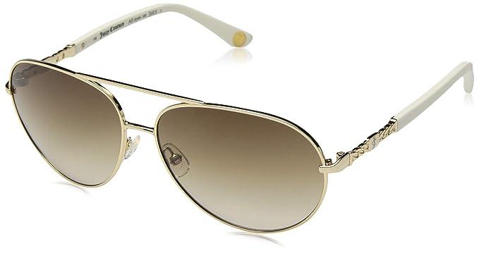 b873ef01c0e8 Amazon.com: Juicy Couture Women's Ju 582/s Aviator Sunglasses, Gold ...
