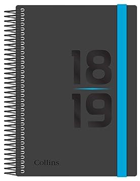 Collins FP63M-Blu A6 Delta - Agenda semanal 2018/19: Amazon.es: Oficina y papelería