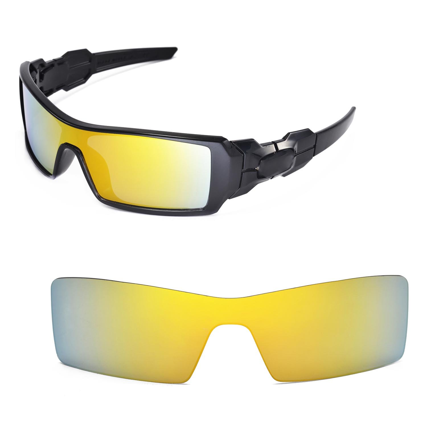 oakley oil rig sunglasses accessories  walleva replacement lenses for oakley oil rig sunglasses 15 options available