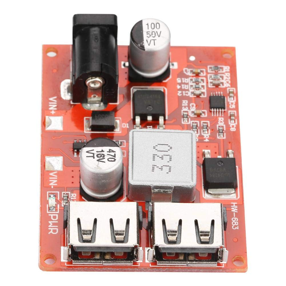 DC-DC Buck Converter Step-Down Modul Doppelter USB Port 6-40V to 5V Spannungs Stabilisiertes Stromversorgungs modul 3A